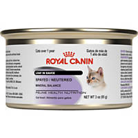 Royal Canin Feline Health Nutrition Adult Spayed/Neutered Loaf in Sauce Canned Cat Food