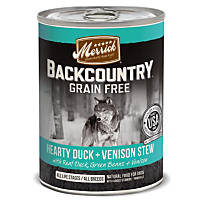 Merrick Backcountry Grain Free Hearty Duck & Venison Stew Canned Dog Food