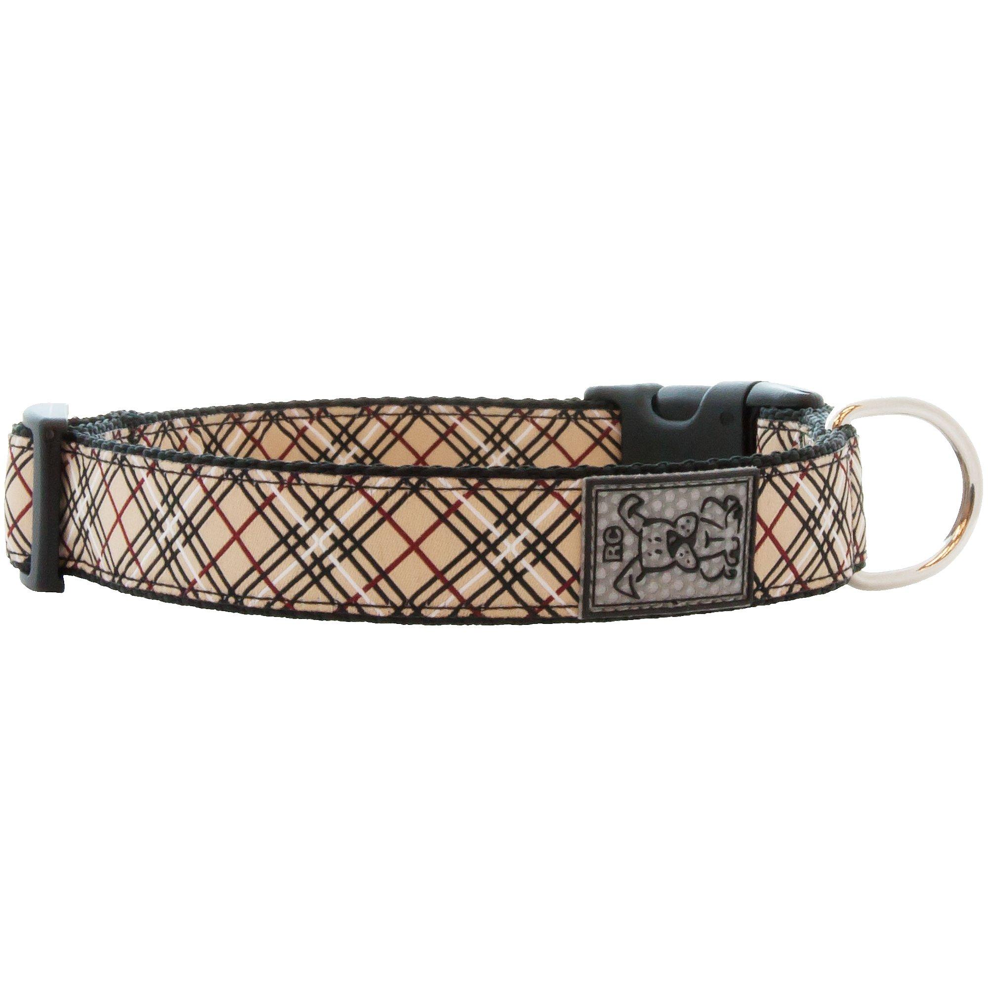 RC Pet Products Tan Tartan Dog Collar