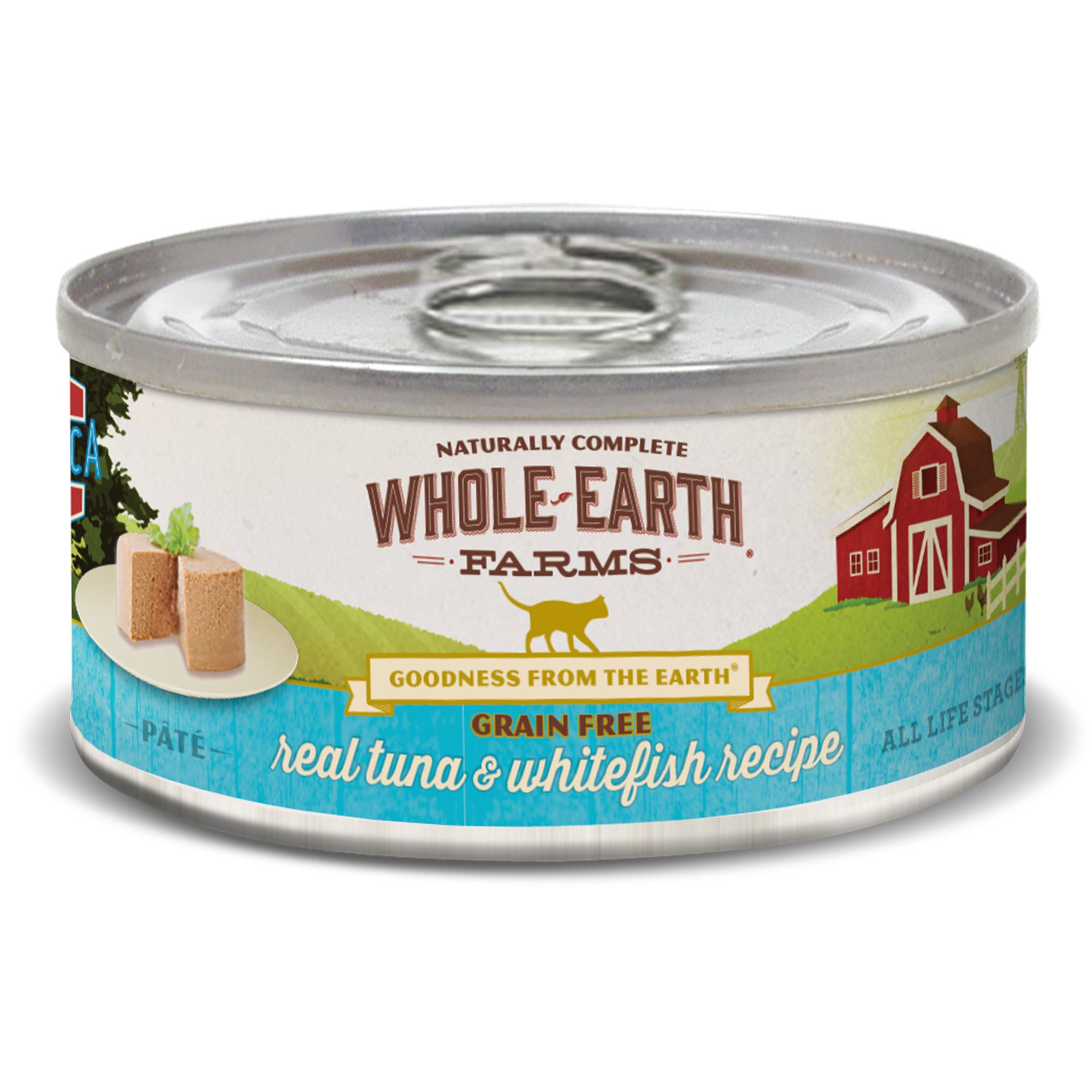 Whole Earth Farms Grain Free Real Tuna & Whitefish Canned Cat Food