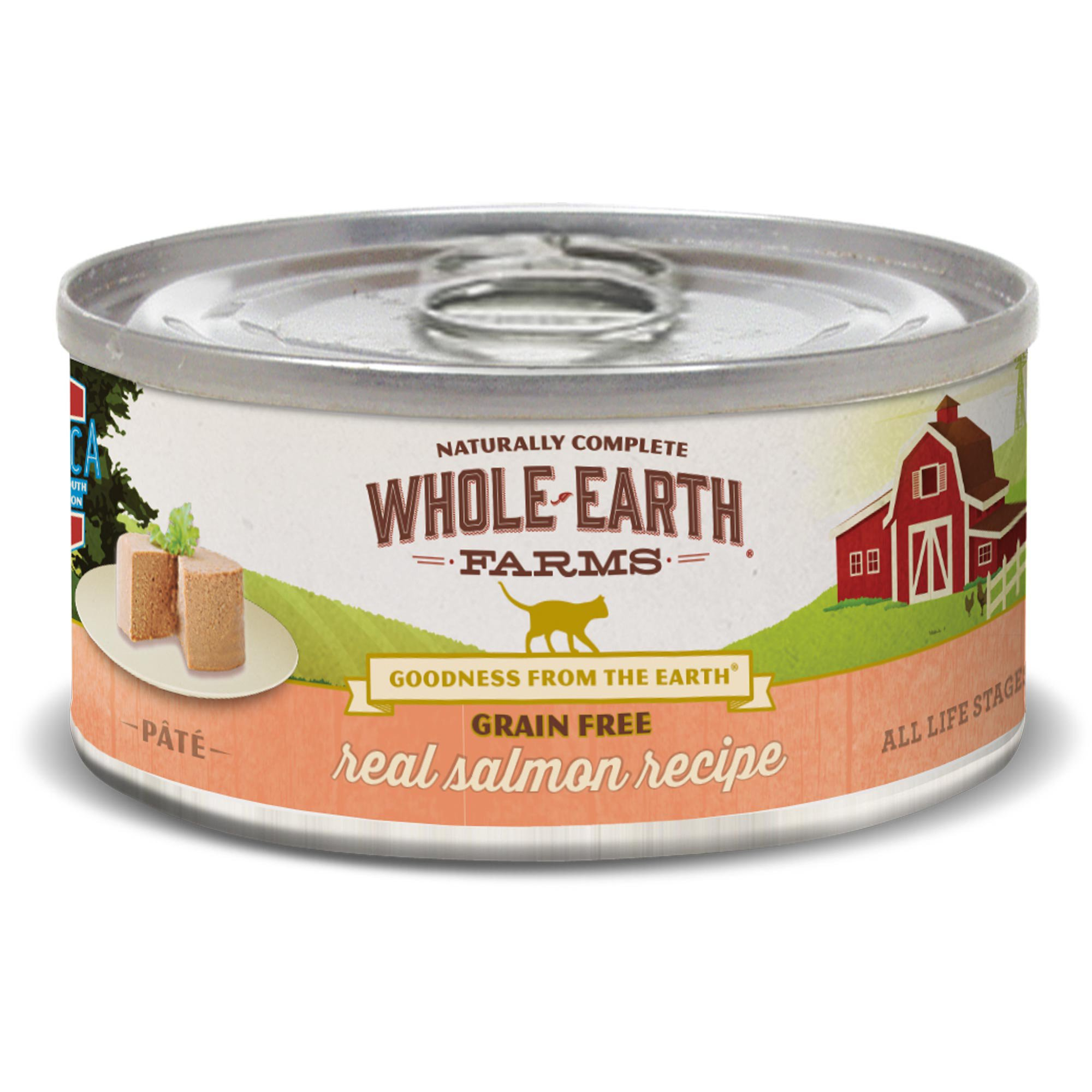 Whole Earth Farms Grain Free Real Salmon Canned Cat Food