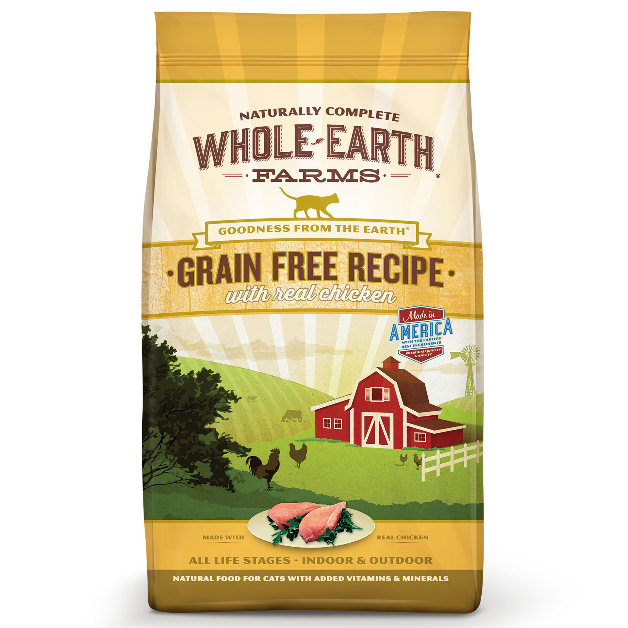 Whole Earth Farms Grain Free Real Chicken Adult Cat Food