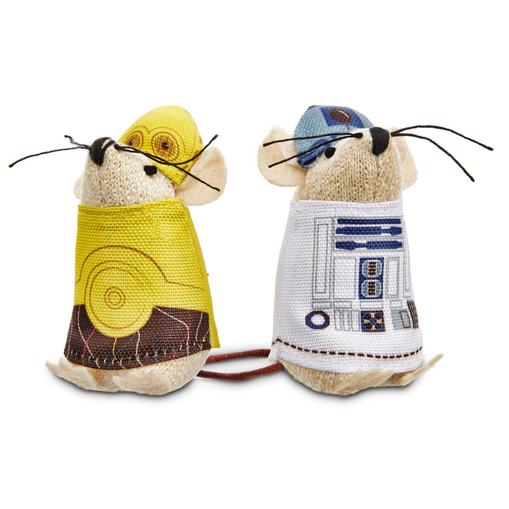 STAR WARS C-3PO & R2-D2 Mice Cat Toys