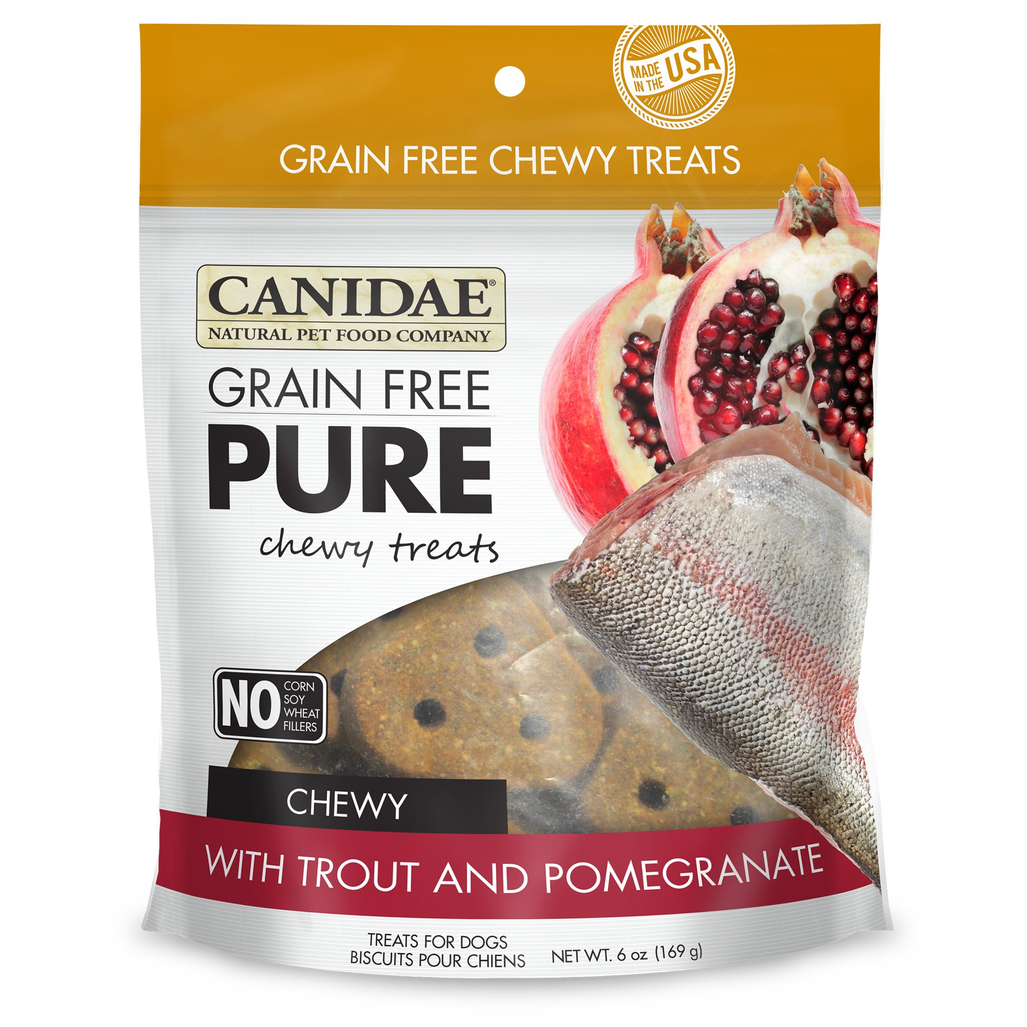Canidae Grain Free Pure Trout & Pomegranate Chewy Dog Treats