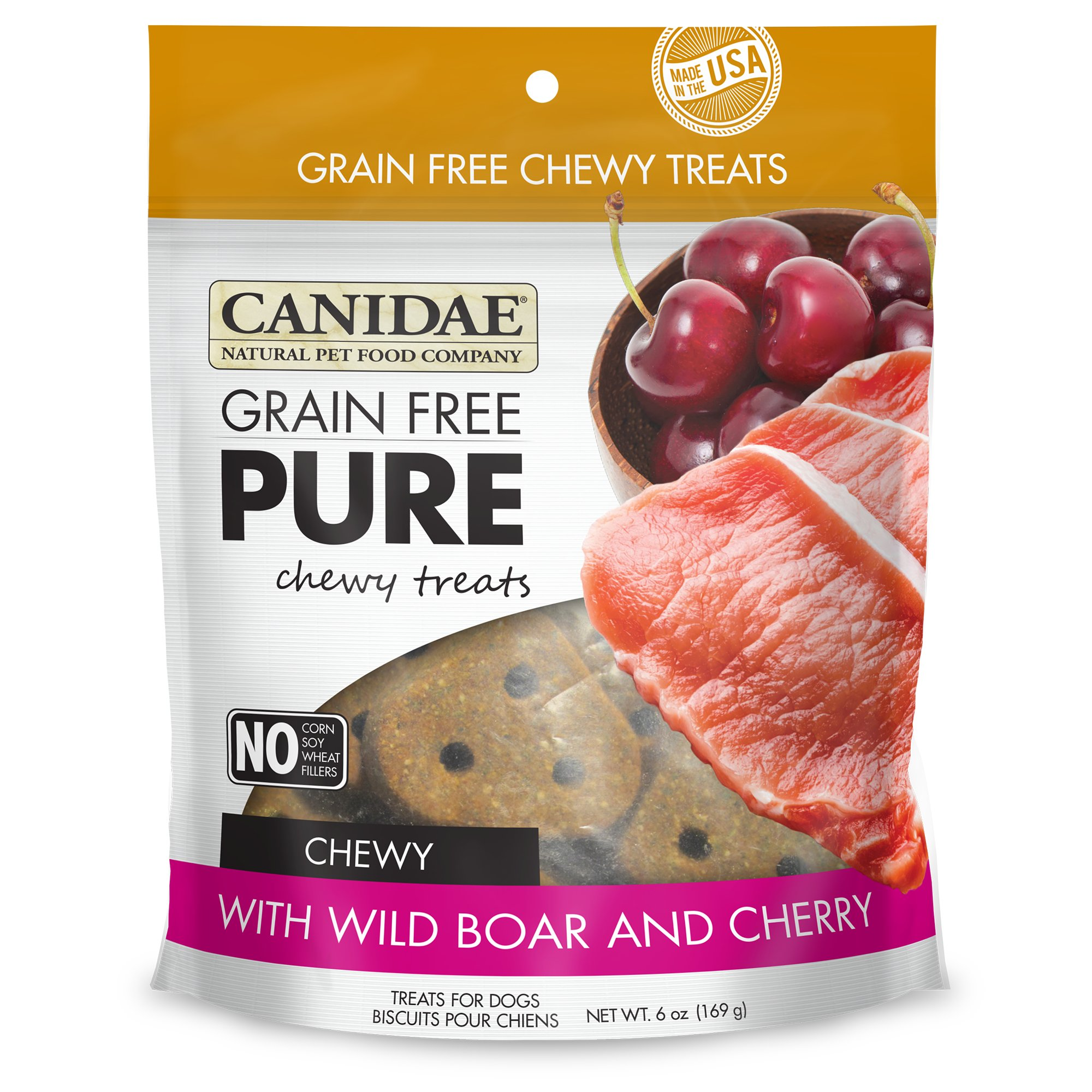 Canidae Grain Free Pure Wild Boar & Cherry Chewy Dog Treats