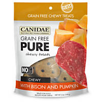 Canidae Grain Free Pure Bison & Pumpkin Chewy Dog Treats