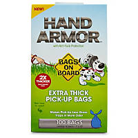 Bags on Board Hand Armor Extra Thick Dog Waste Pick-Up Bags