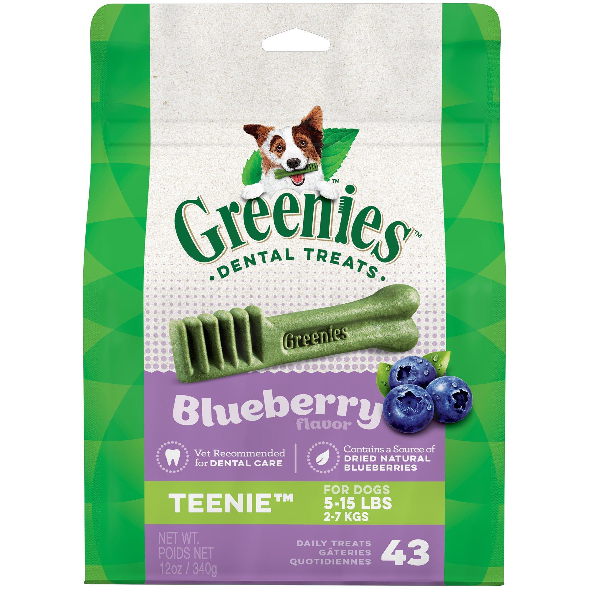 Greenies Blueberry Teenie Dental Dog Treats