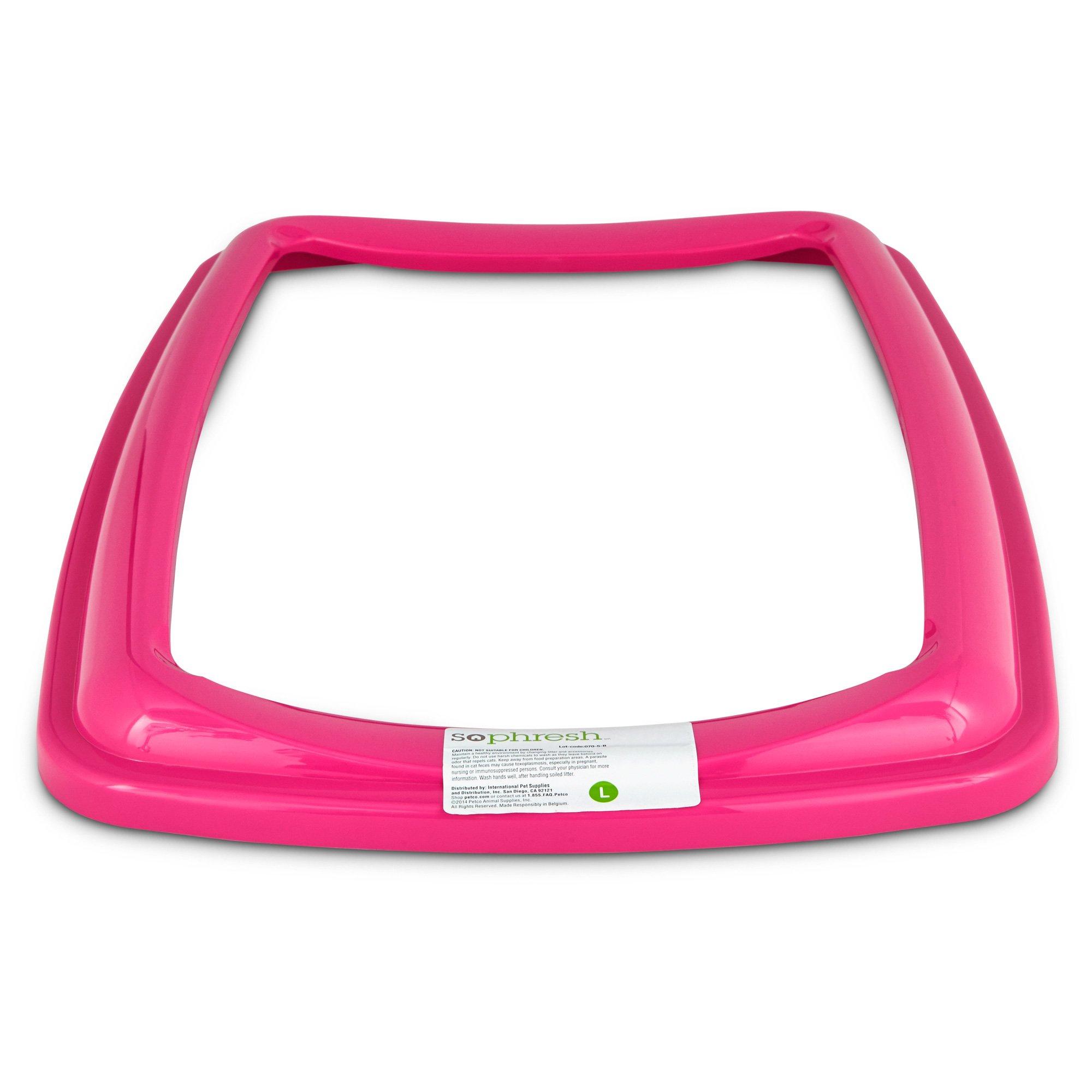 So Phresh Pink Large Open Litter Box Rim