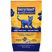 Natural Balance Wild Pursuit Chicken, Turkey & Quail Cat Food