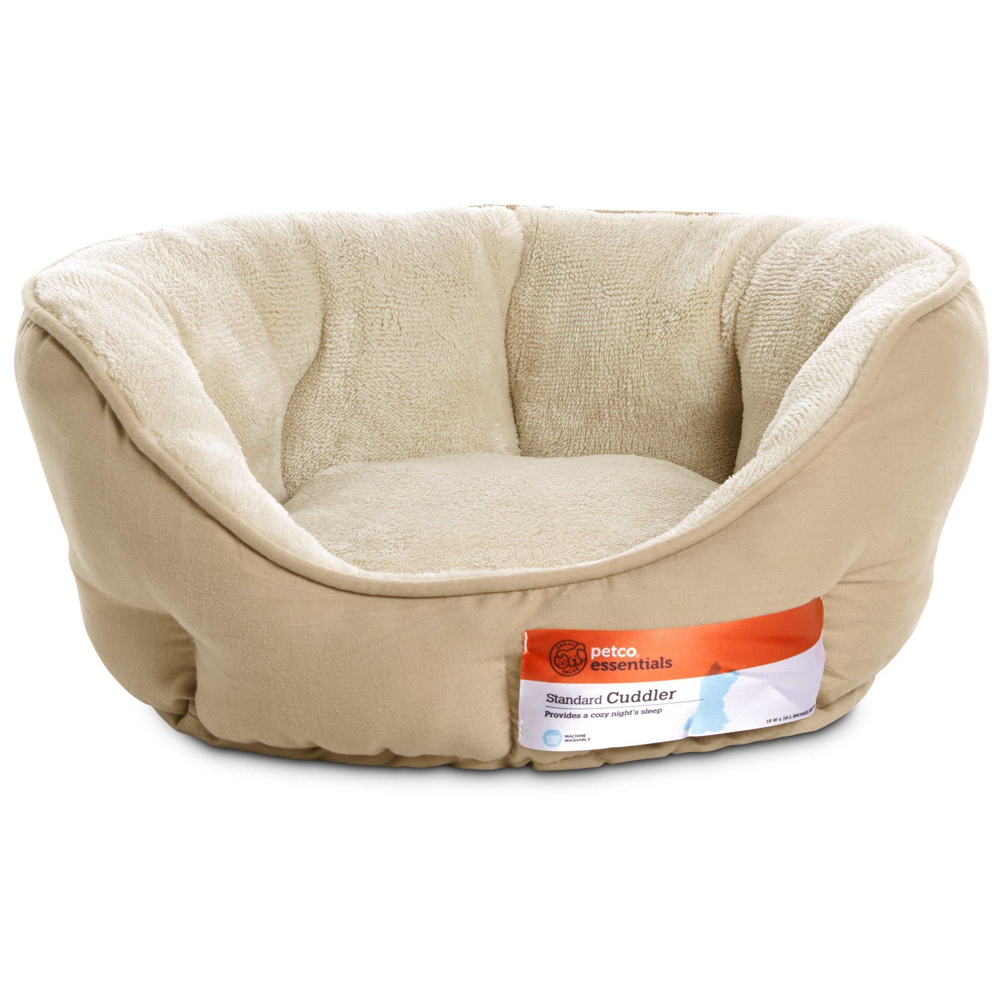 Petco Standard Tan Cuddler Dog Bed