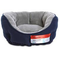 Petco Standard Navy Blue Cuddler Dog Bed