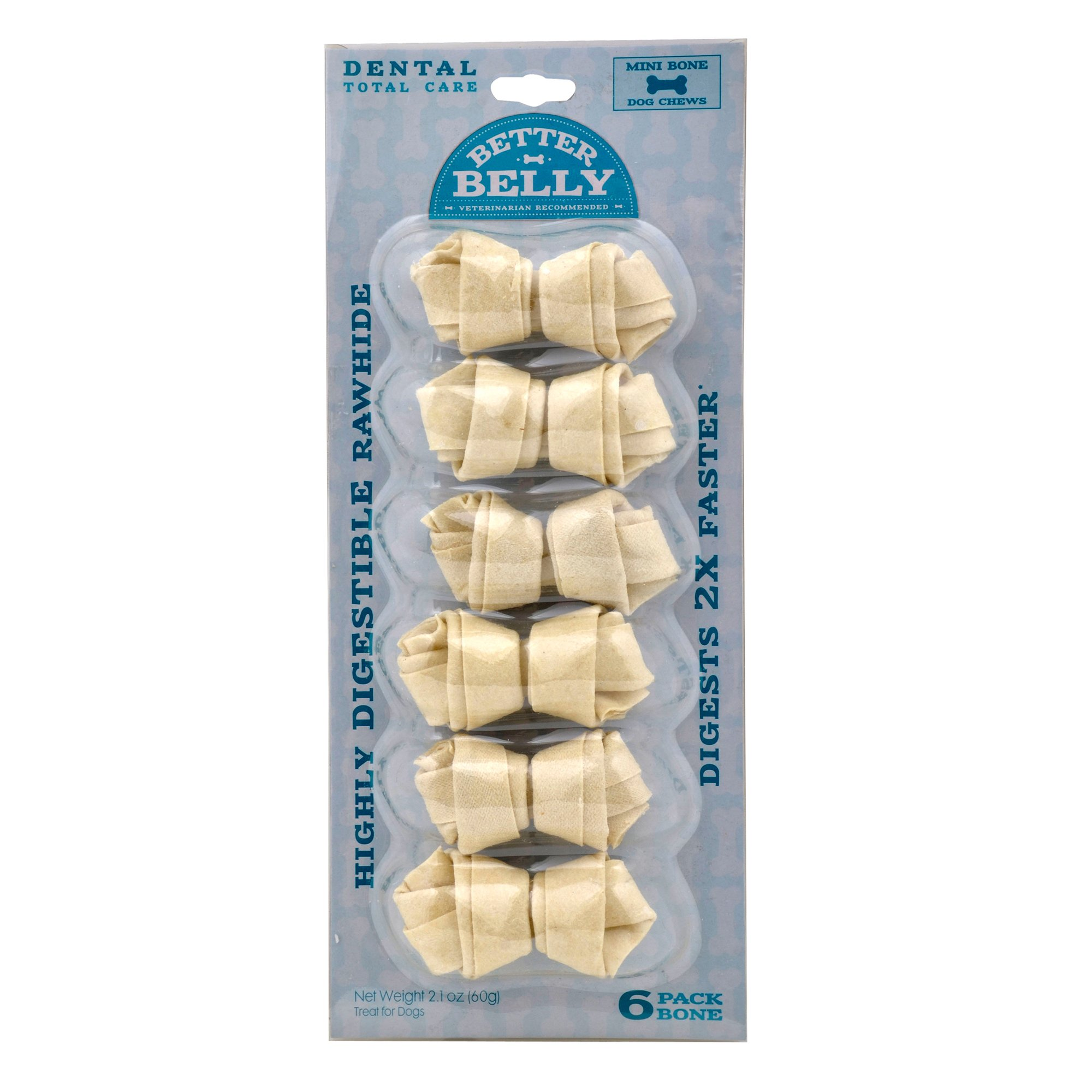 Better Belly Mini Rawhide Total Dental Care Dog Chews