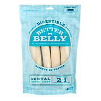 Better Belly Large Rawhide Total Dental Care Dog Chews