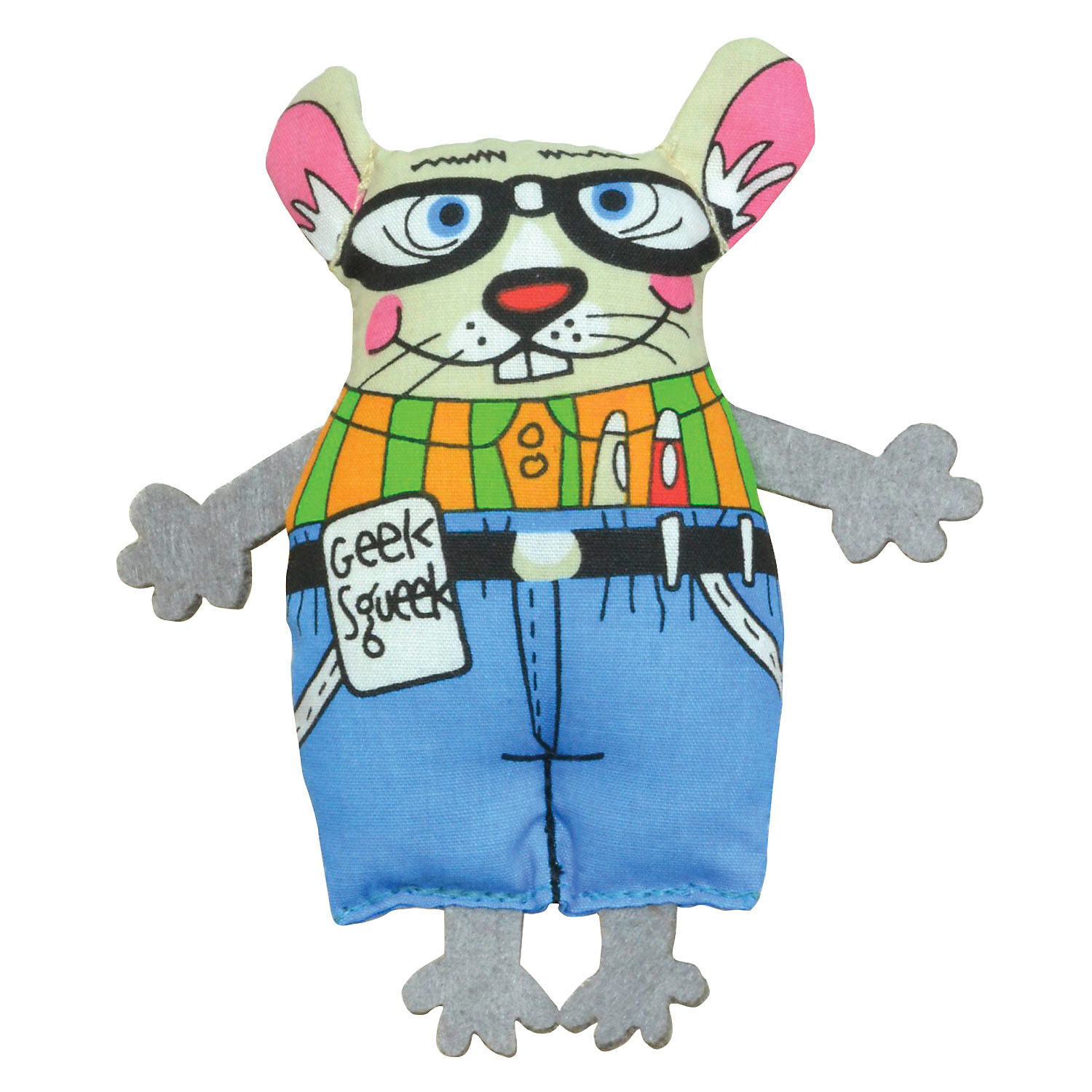Petstages Geeky Squeek Mouse Cat Toy