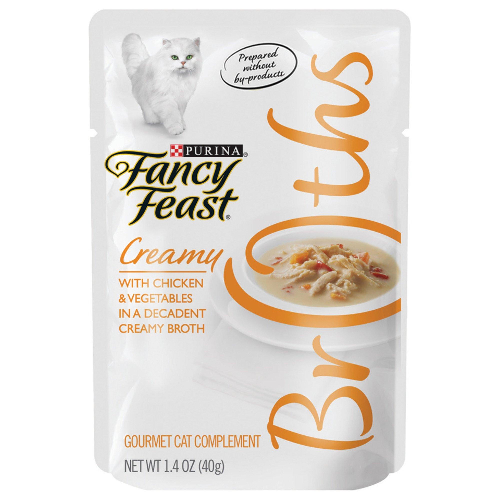 Fancy Feast Broths Creamy Chicken & Vegetables Cat Food