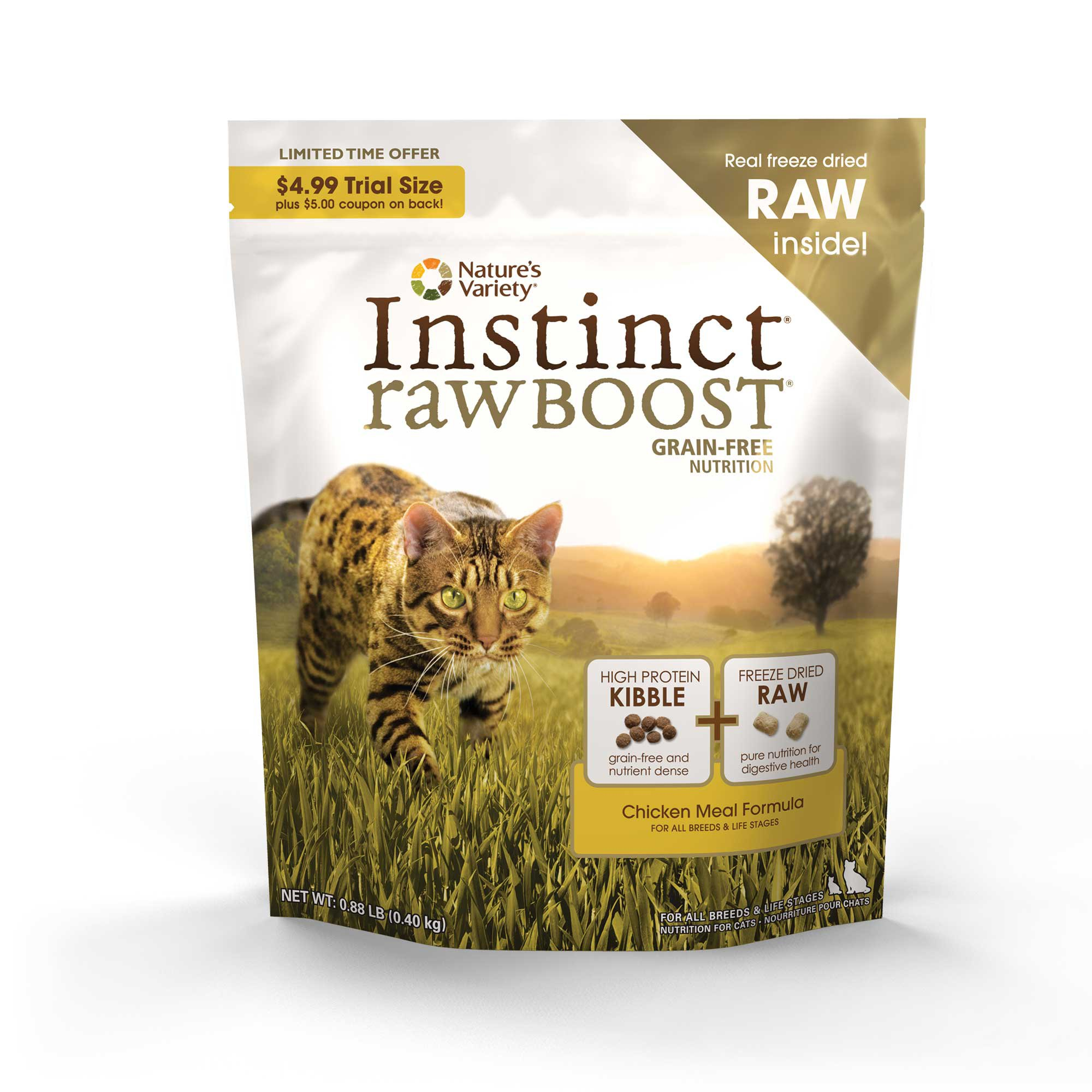 Nature's Variety Instinct Raw Boost Grain-Free Chicken Meal Cat Food