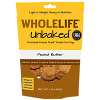 Whole Life Pets Unbaked Peanut Butter Molasses Freeze Dried Dog Treat