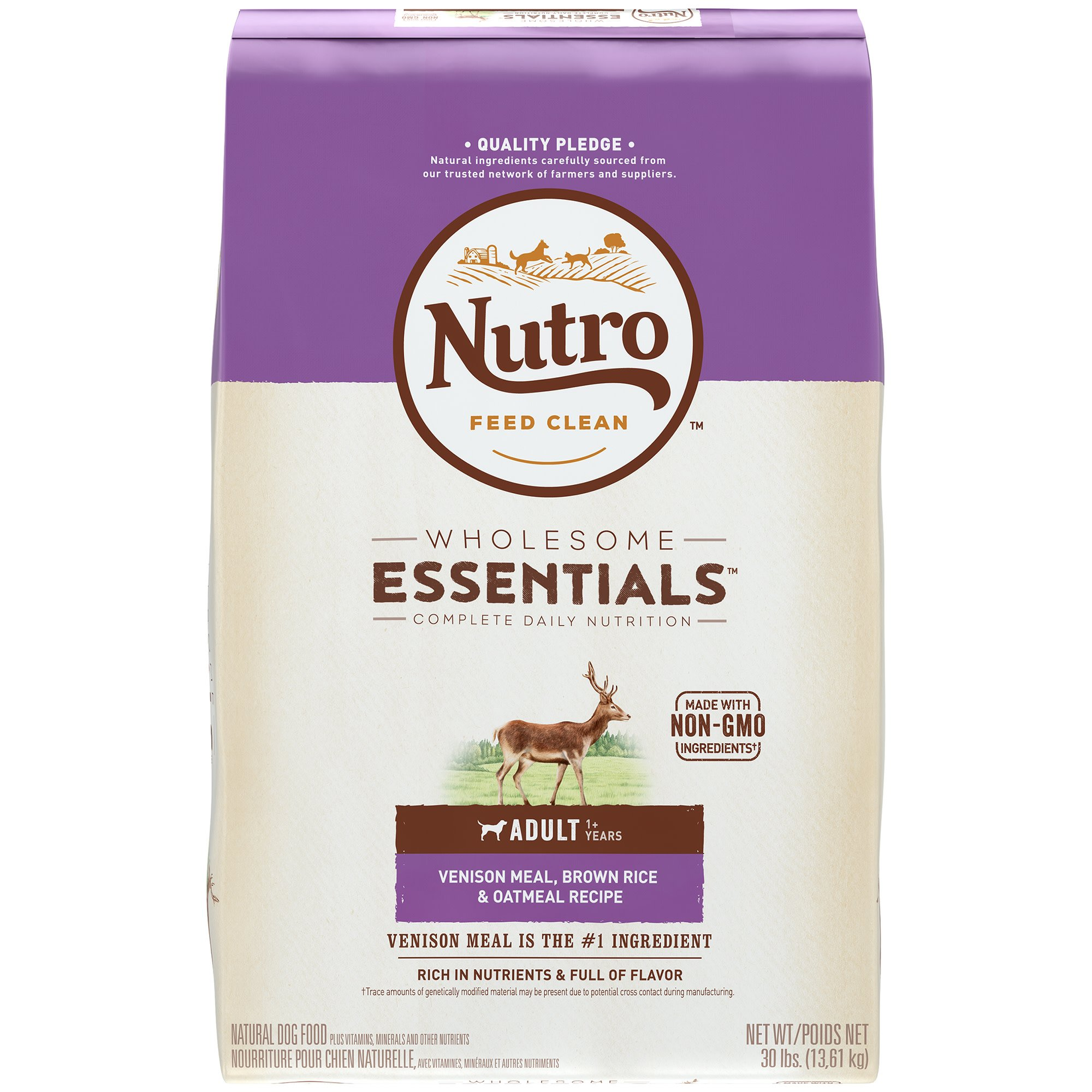 Nutro Venison Meal, Whole Brown Rice & Oatmeal Adult Dog Food