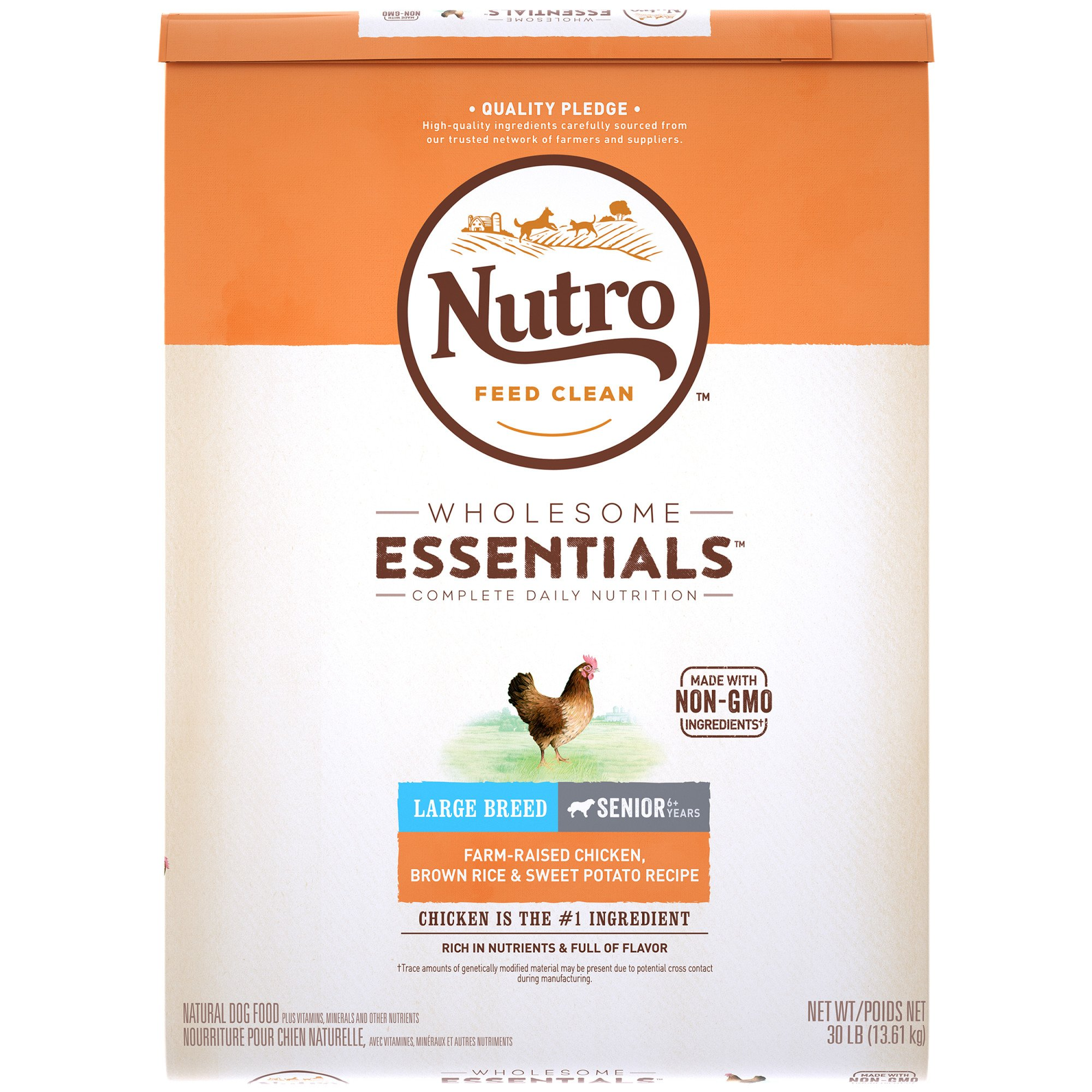 Nutro Chicken, Whole Brown Rice and Oatmeal Large Breed Senior Dog Food