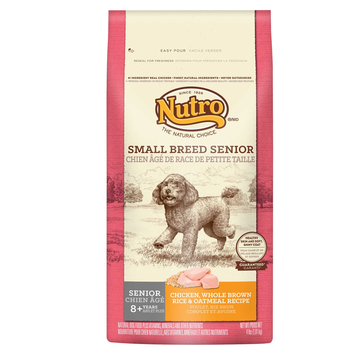 Nutro Chicken, Whole Brown Rice & Oatmeal Small Breed Senior Dog Food