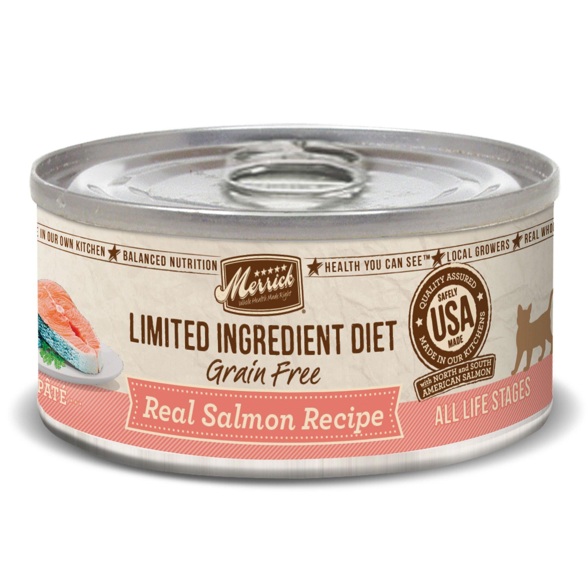 Merrick Limited Ingredient Diet Grain Free Salmon Canned Cat Food