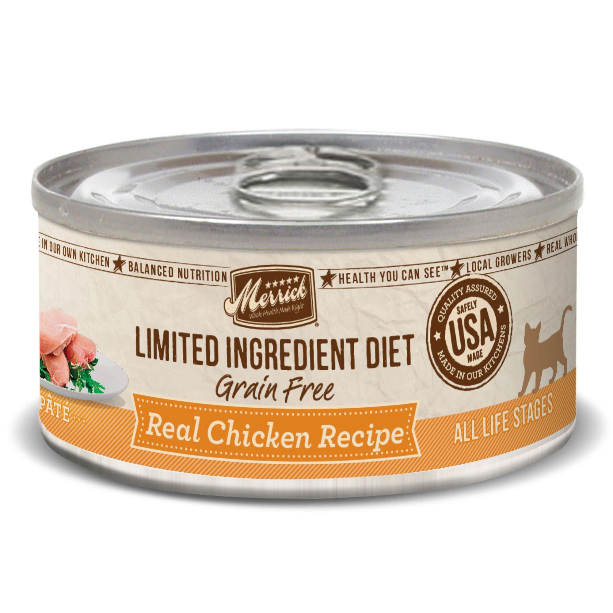 Merrick Limited Ingredient Diet Grain Free Chicken Canned Cat Food