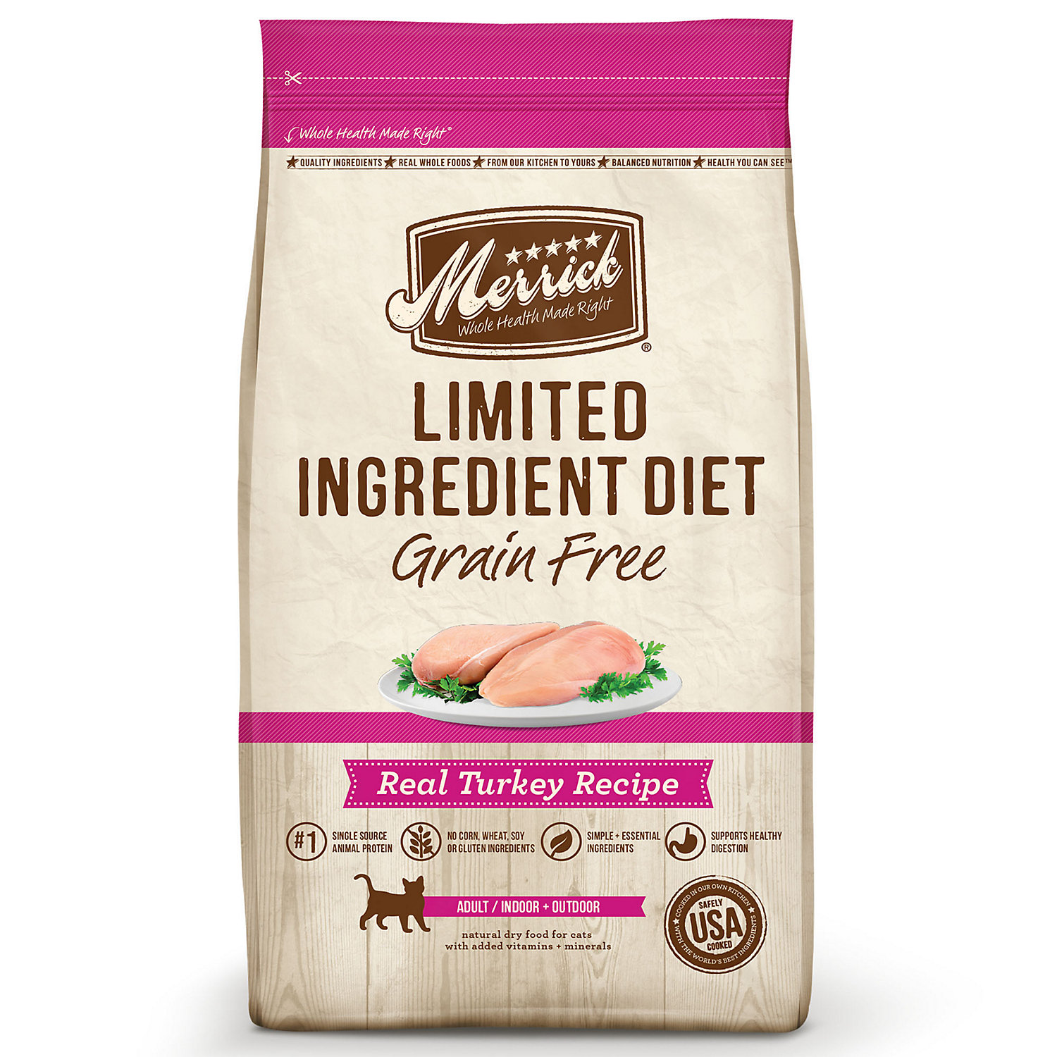 Merrick Limited Ingredient Diet Grain Free Turkey Cat Food,