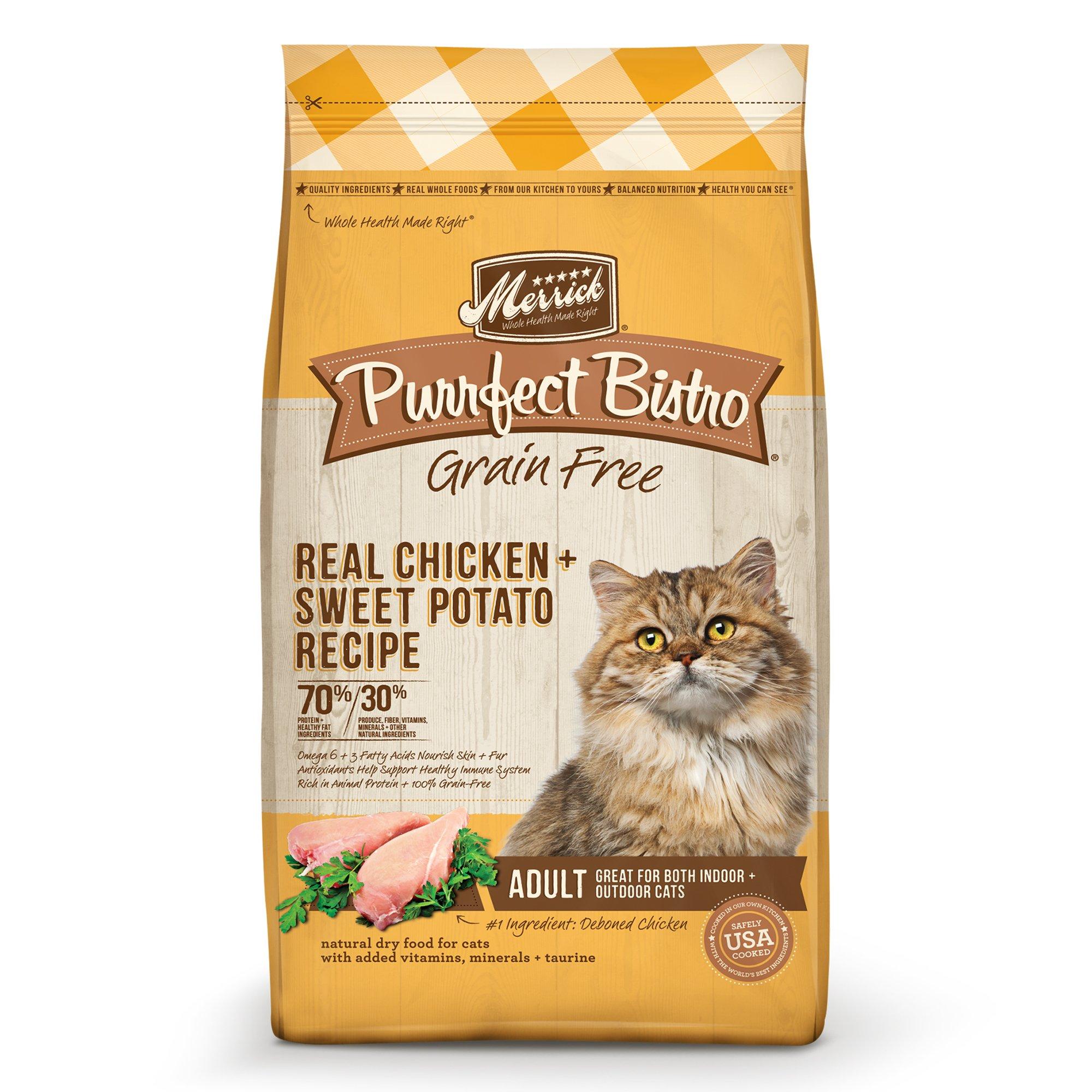 Merrick Purrfect Bistro Grain Free Healthy Chicken Adult Cat Food, 7 lbs.