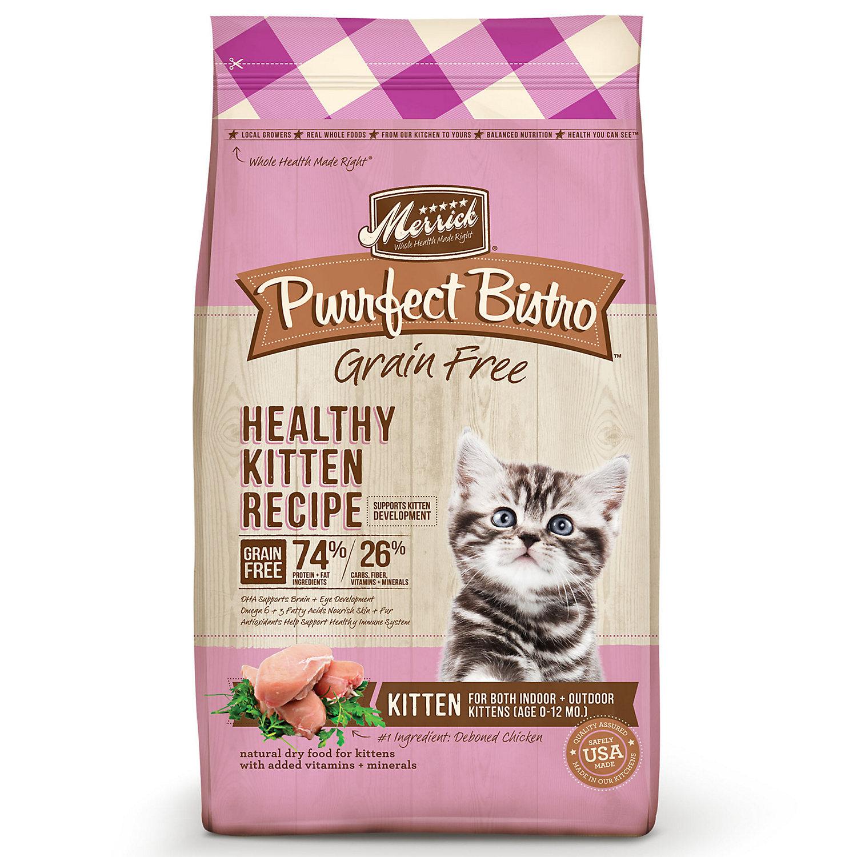 Merrick Purrfect Bistro Grain Free Healthy Kitten Food, 7 lb