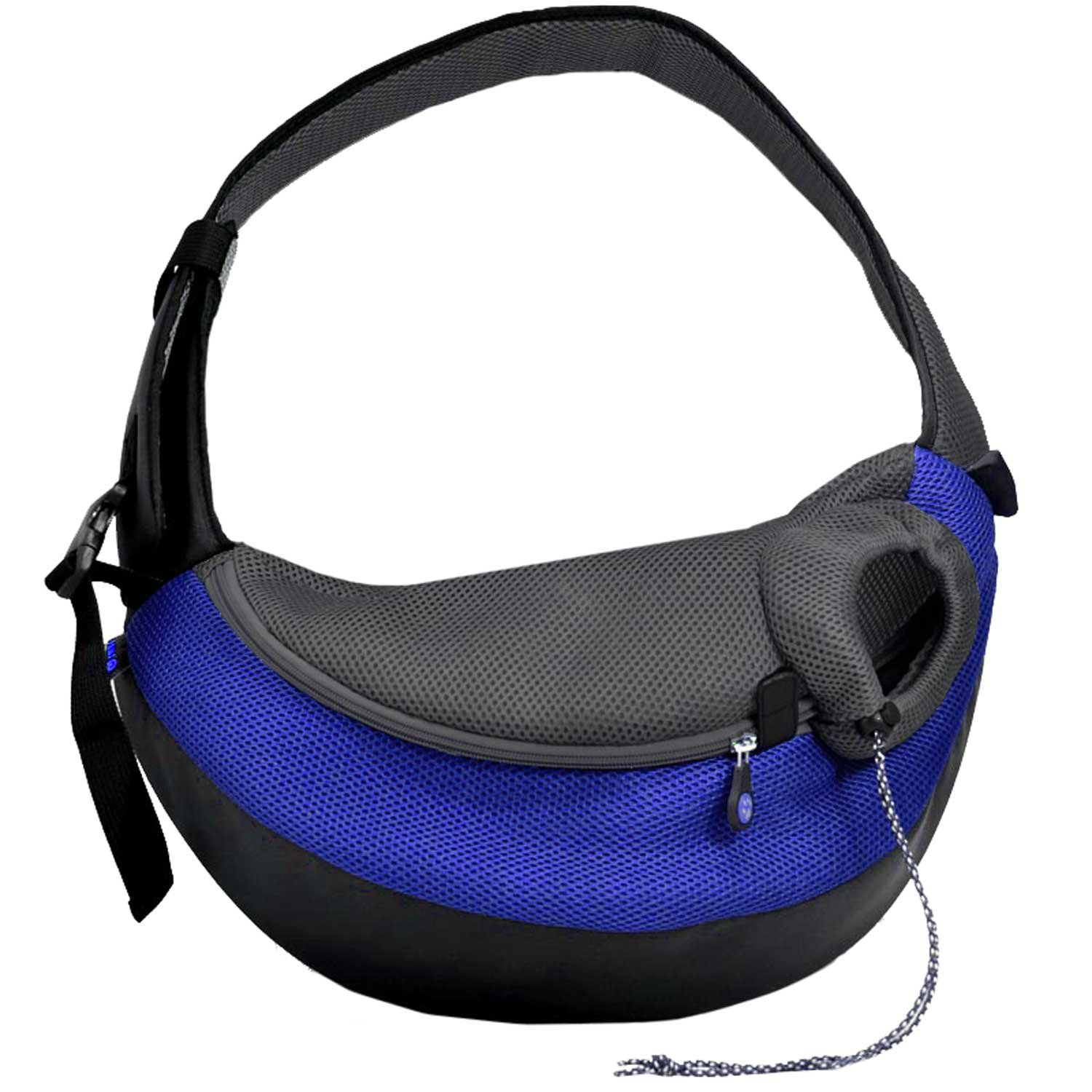 Wacky Paws Large Pet Sling Pet Carrier in Blue