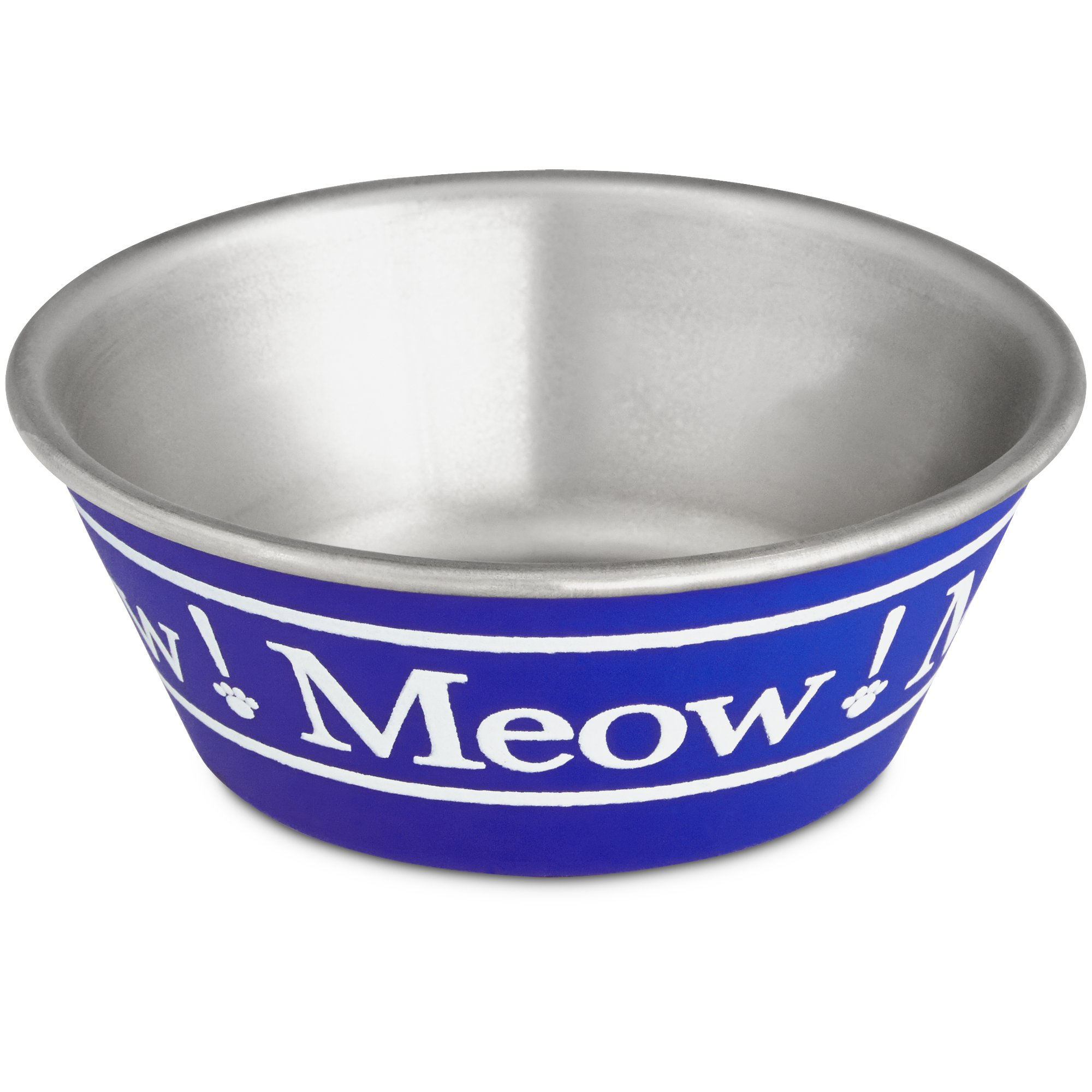 Harmony Blue Meow Stainless Steel Cat Bowl