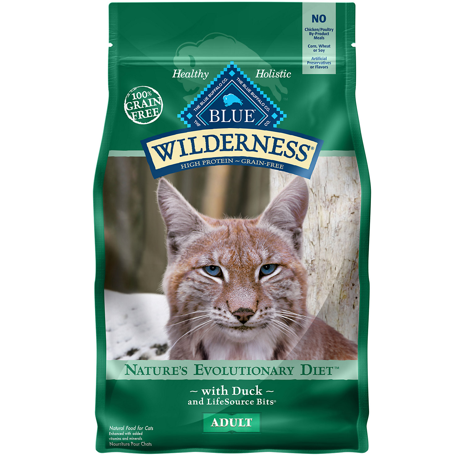 Blue Buffalo Wilderness Duck Recipe Adult Cat Food, 11 lbs.