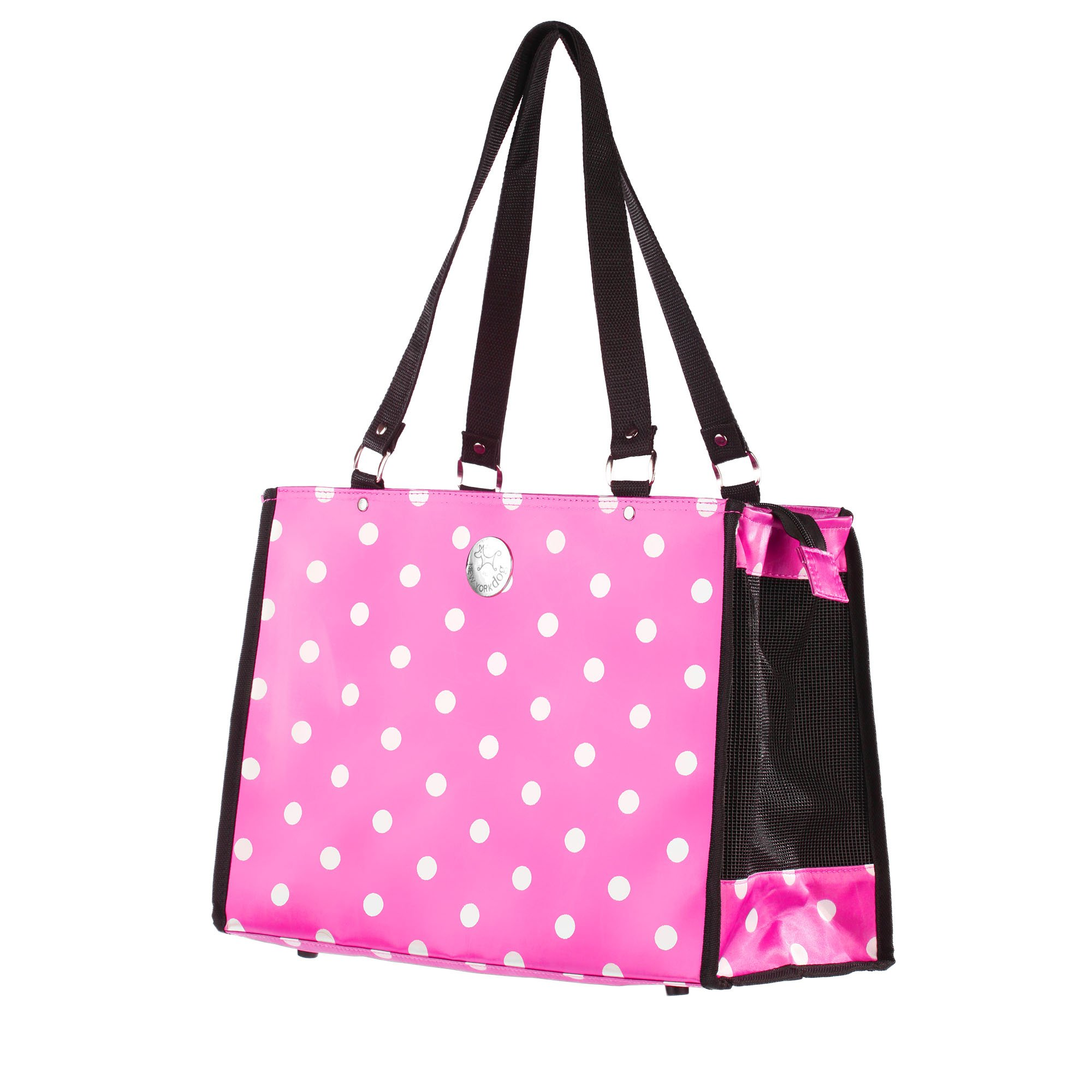 New York Dog Pink Polka Dot Dog Tote