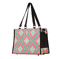 New York Dog Blue & Orange Pattern Dog Tote
