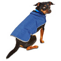 Good2Go Blue Equestrian Quilted Dog Coat