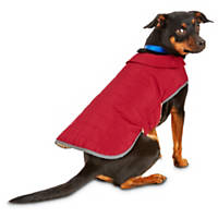 Good2Go Red Equestrian Quilted Dog Coat