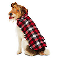 Good2Go Red Checkered Reversible Cozy Coat Dog Jacket