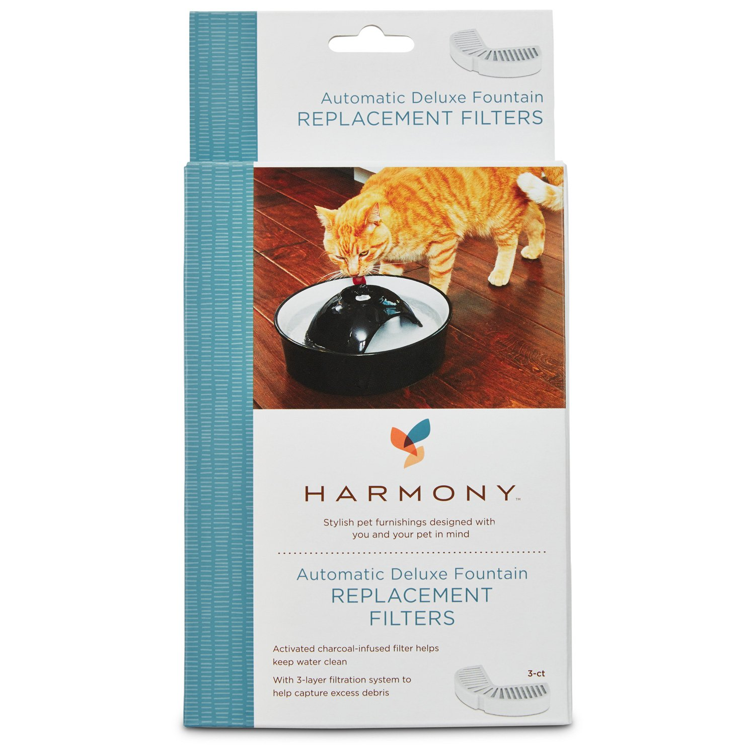 Harmony Automatic Deluxe Ceramic Cat Fountain Replacement Filters