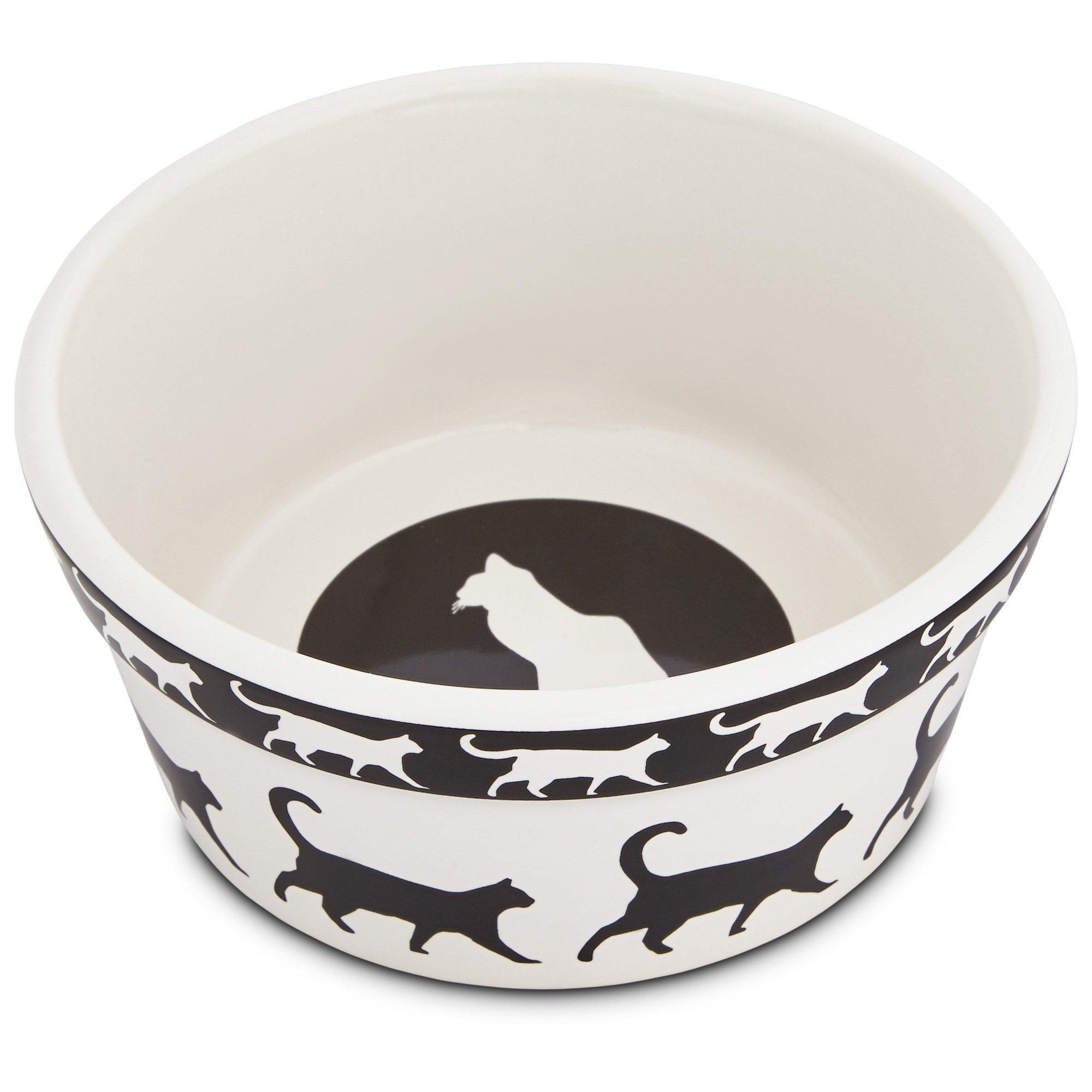 Harmony Catwalk Ceramic Cat Bowl