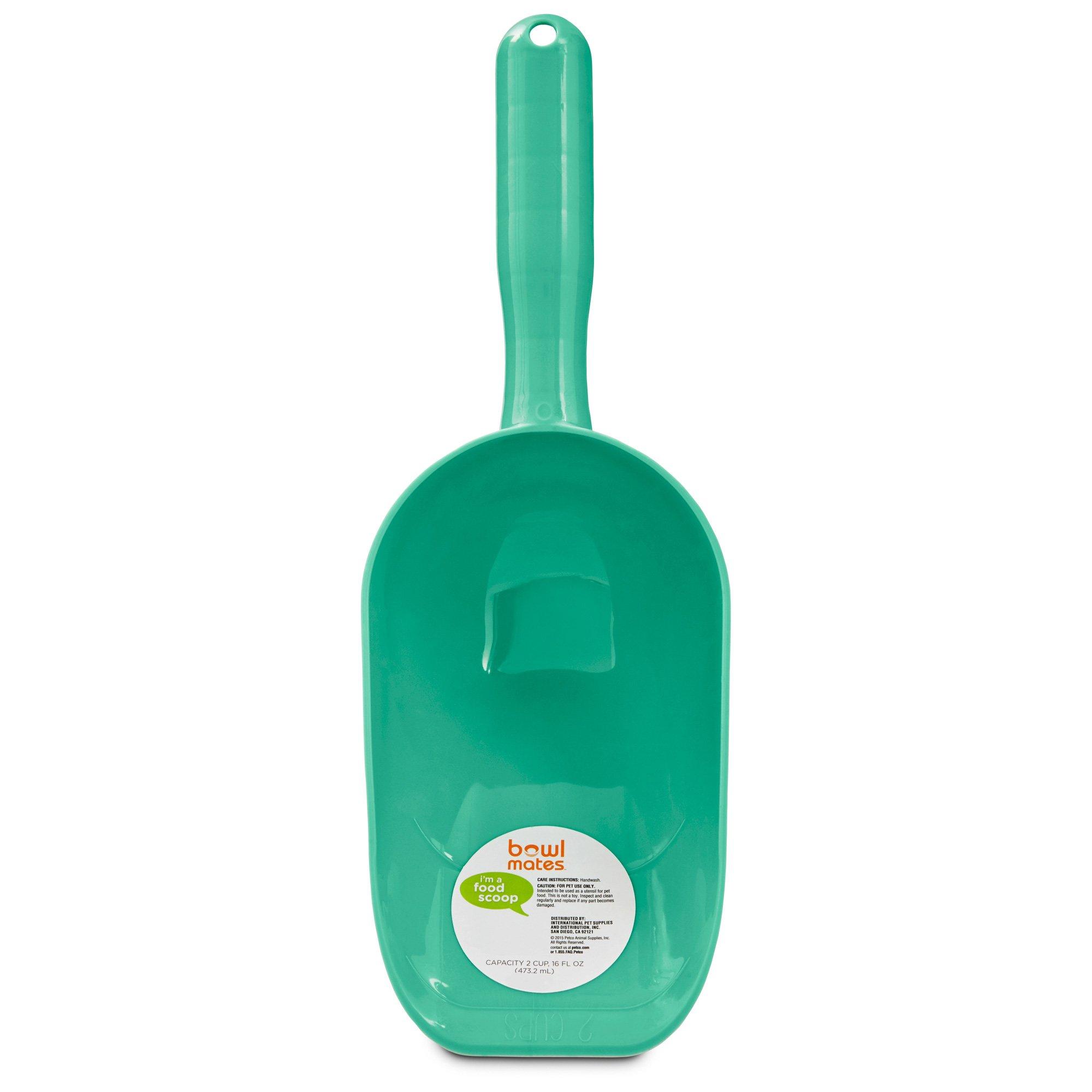 Bowlmates Plastic Food Scoop, 2 Cup