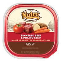 Nutro Beef & Potato Stew Adult Dog Food Trays