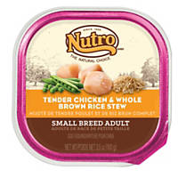 Nutro Natural Choice Chicken & Whole Brown Rice Small Breed Adult Dog Food Trays
