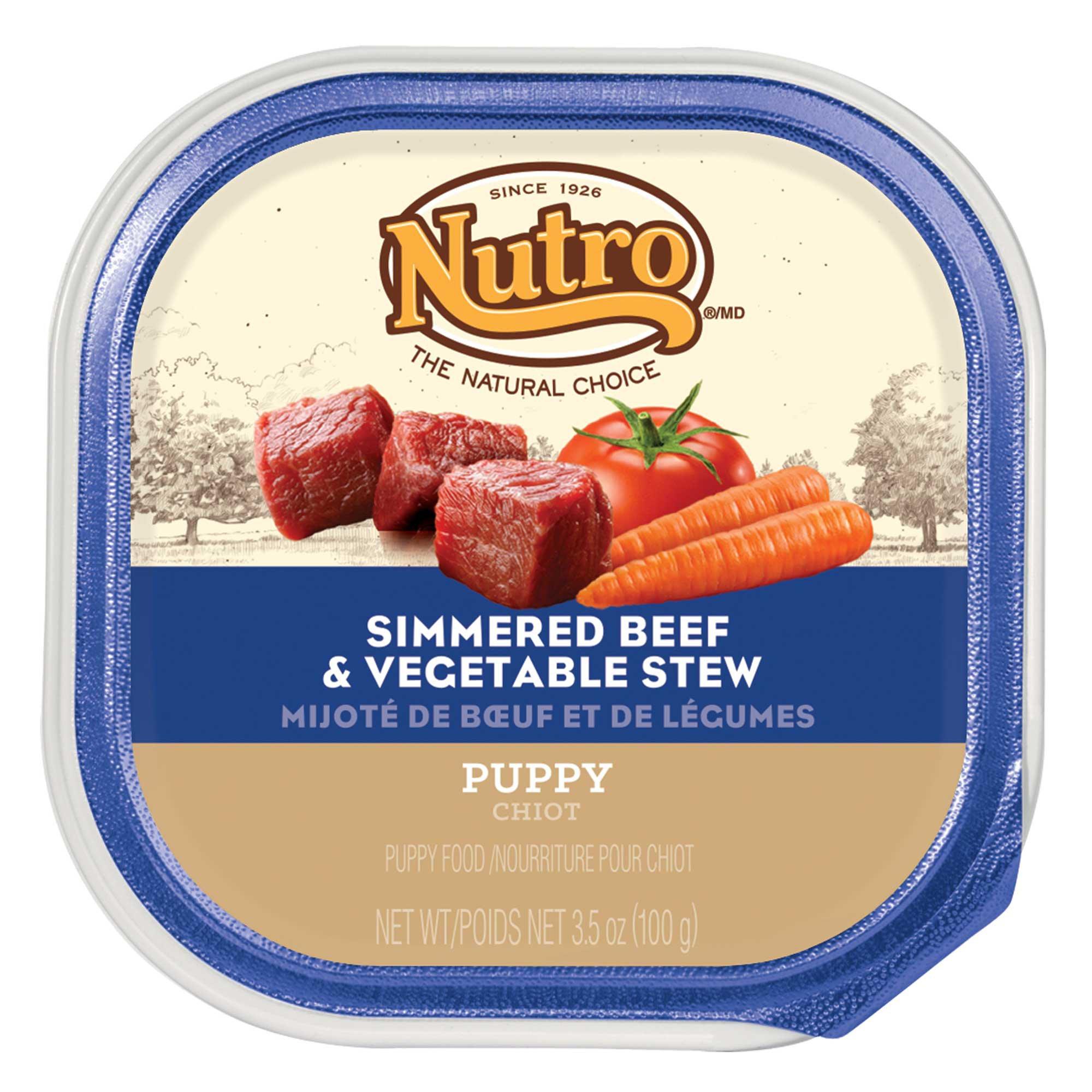 Nutro Beef & Vegetable Stew Puppy Food Trays