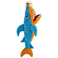 Leaps & Bounds Nubby Shark Dog Toy