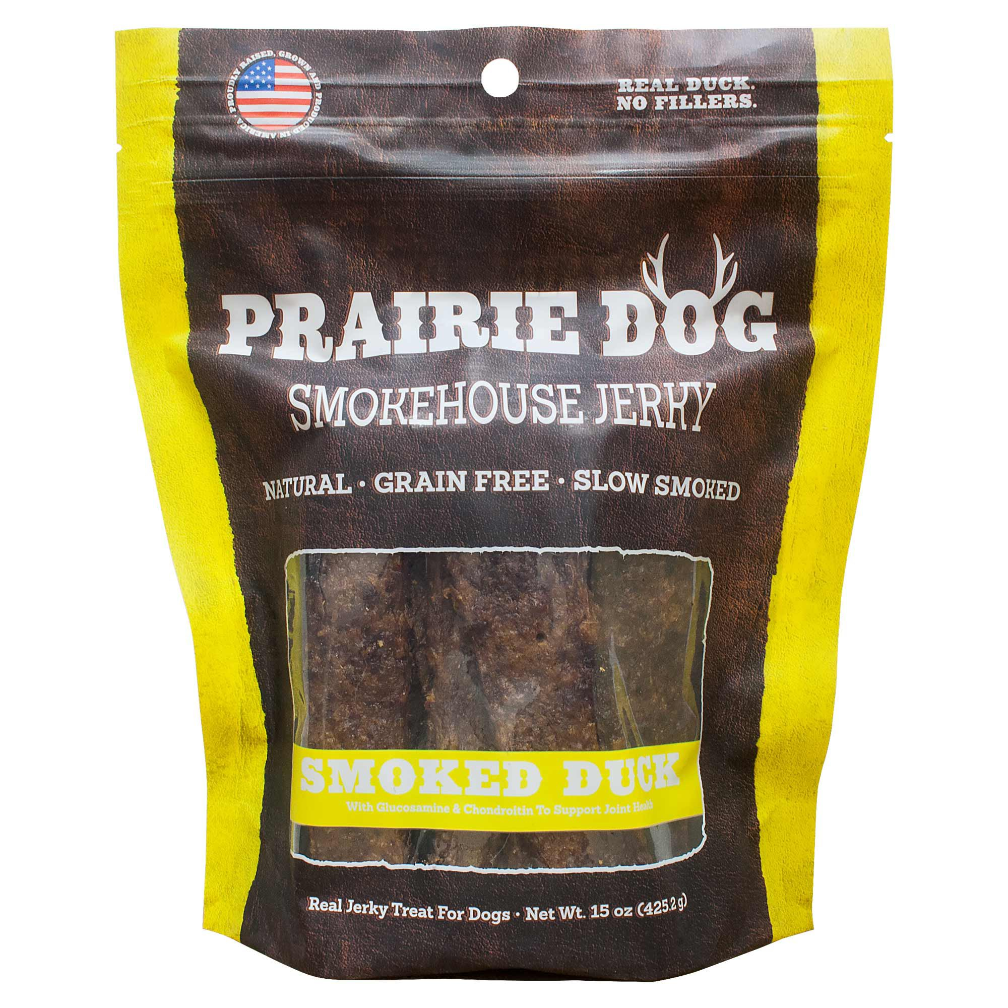 Prairie Dog Smokehouse Jerky Smoked Duck Dog Treats