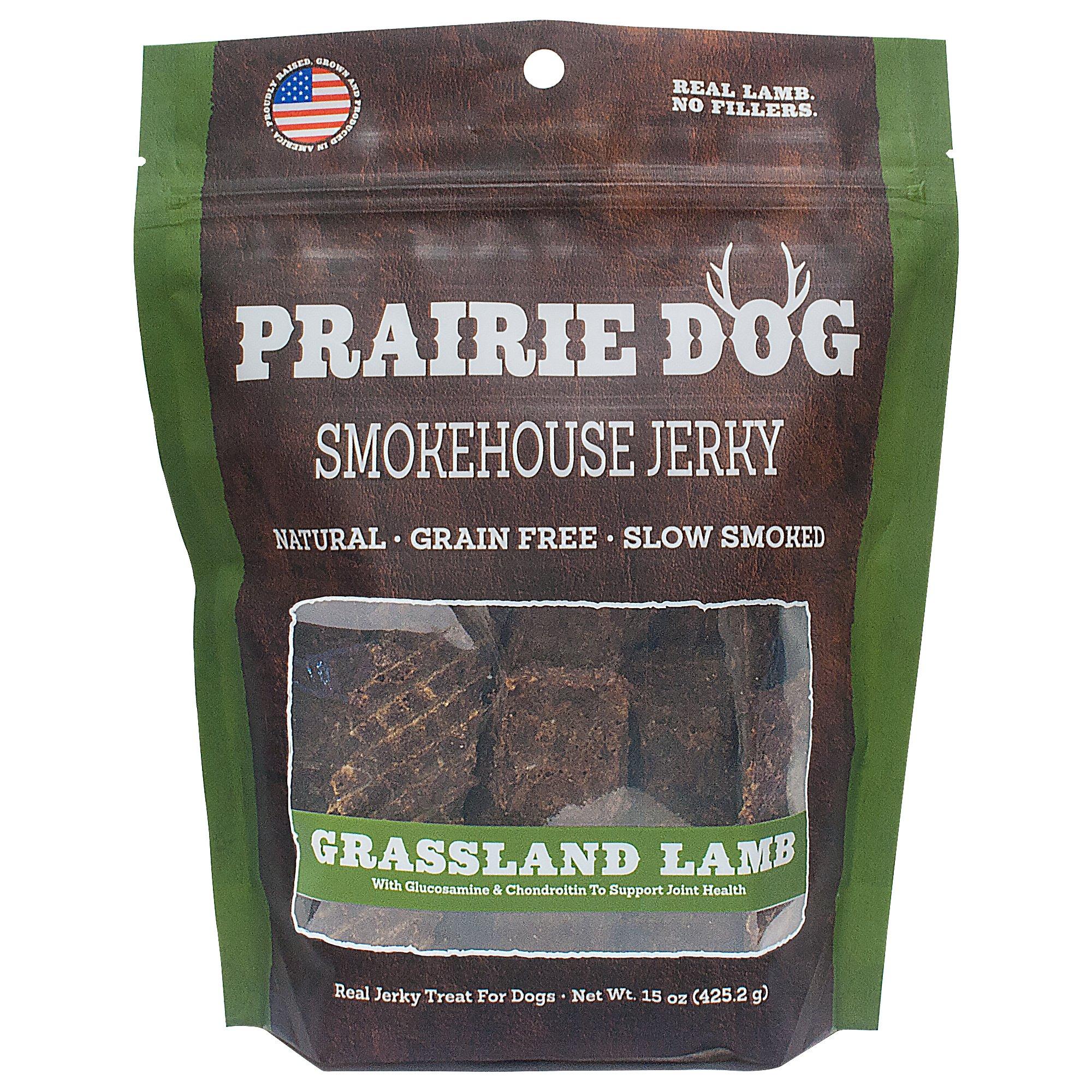 Prairie Dog Smokehouse Jerky Grassland Lamb Dog Treats