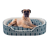 Soft Touch Orthopedic Cuddler Navy Dog Bed