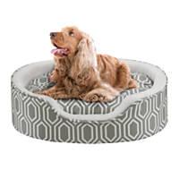 Soft Touch Orthopedic Cuddler Grey Dog Bed