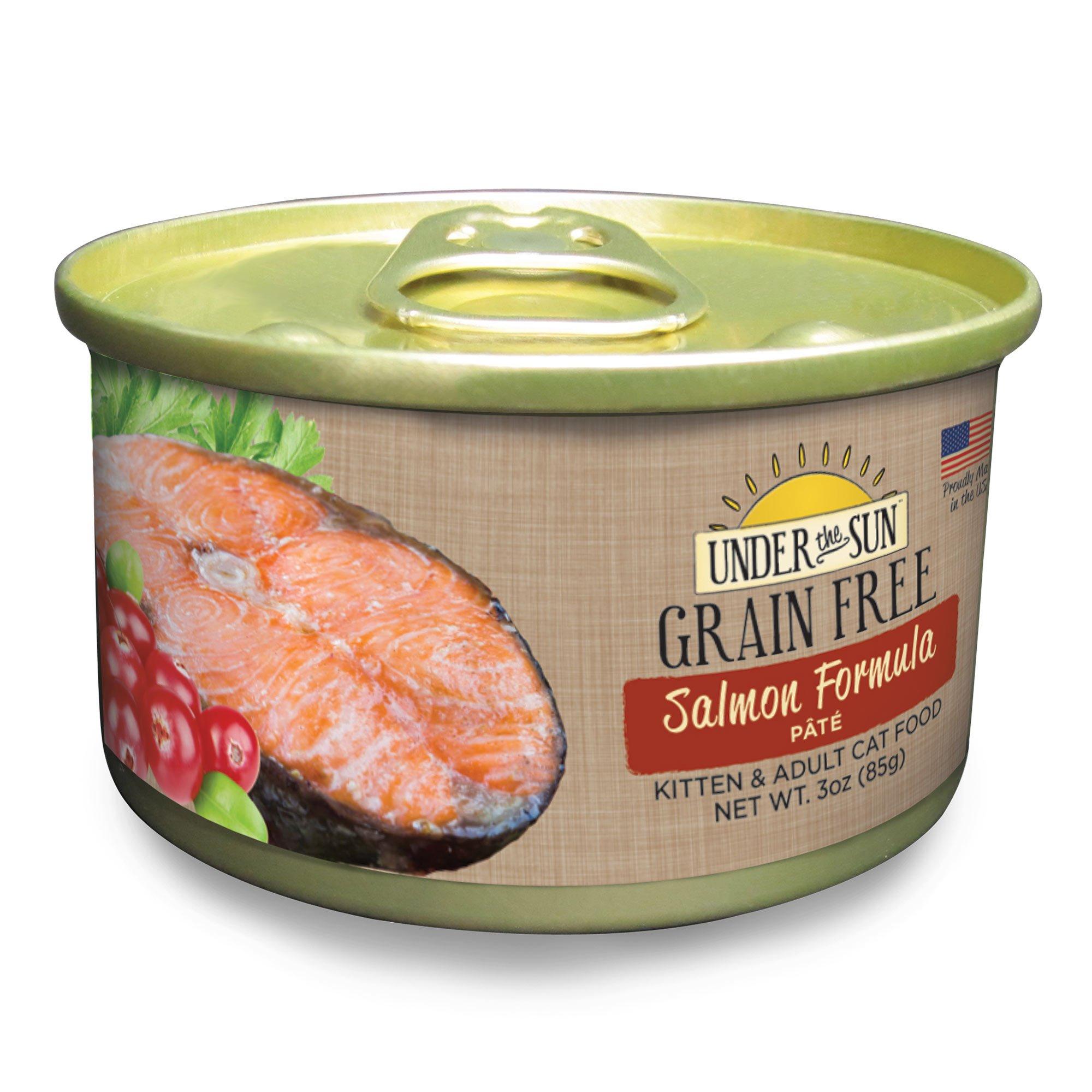 Under The Sun Grain Free Salmon Kitten & Adult Canned Cat Food